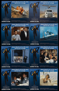"""Licence to Kill (United Artists, 1989). Lobby Card Set of 8 (11"""" X 14""""). James Bond.... (Total: 8 Items)"""
