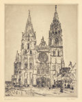 Prints:American, JOHN MARIN (American, 1870-1953). Chartres Cathedral, 1910.Etching on paper. 11-1/4 x 9 inches (28.7 x 22.9 cm). Signed...