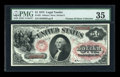 Large Size:Legal Tender Notes, Fr. 25 $1 1875 Legal Tender PMG Choice Very Fine 35....