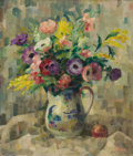 Fine Art - Painting, European:Modern  (1900 1949)  , FRENCH SCHOOL (20th Century). Bouquet of Flowers, circa1930-40. Oil on wood. 25-1/2 x 21-1/2 inches (64.8 x 54.6 cm). A...
