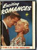 Golden Age (1938-1955):Romance, Exciting Romances #5 and 6 Bound Volume (Fawcett Publications,1951) ....