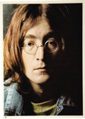 Music Memorabilia:Autographs and Signed Items, John Lennon Twice-Inscribed Photo. This outstanding signed photo has a very intriguing story behind it: In late December 197... (Total: 1 Item)