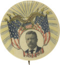 Political:Pinback Buttons (1896-present), Theodore Roosevelt: Radiant Celluloid Pinback...