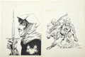 Original Comic Art:Covers, Steve Leialoha - Fantasy Scene Fanzine Front and Back CoverOriginal Art (1972). ...