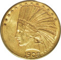 Indian Eagles, 1908-S $10 MS61 PCGS....