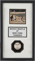 Autographs:Baseballs, Mickey Mantle Signed Baseball In Shadowbox. ...