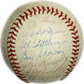 Autographs:Baseballs, 1950s-60s New York Yankees Stars Multi-Signed Baseball with RogerMaris. A total of 22 signatures from players who wore the...