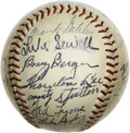 Autographs:Baseballs, 1938 Chicago White Sox Team Signed Baseball. Official American League (Harridge) baseball includes 24 high-quality fountain ...