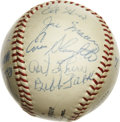 Autographs:Baseballs, St. Louis Cardinals Old Timers Multi-Signed Baseball. A total of 20past members of the St. Louis Cardinals organization ha...