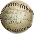Autographs:Baseballs, 1936 Chicago White Sox Team Signed Baseball with Original Box. Stellar vintage OAL (Harridge) orb collects the signatures o...