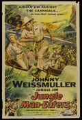 "Movie Posters:Adventure, Jungle Man-Eaters (Columbia, 1954). One Sheet (27"" X 41"").Adventure...."