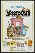 "Movie Posters:Animated, The Aristocats (Buena Vista, R-1980). One Sheet (27"" X 41"").Animated...."