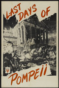 "Movie Posters:Adventure, Last Days of Pompeii (RKO, R-1950s). One Sheet (27"" X 41"").Adventure...."