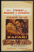 "Movie Posters:Adventure, Safari Lot (Columbia, 1956). Window Cards (4) (14"" X 22"").Adventure.... (Total: 4 Items)"