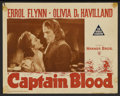 "Movie Posters:Adventure, Captain Blood Lot (Warner Brothers, R-1947). Lobby Cards (4) (11"" X14""). Adventure.... (Total: 4 Items)"