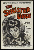 "Movie Posters:Crime, The Sinister Urge (Headliner Productions, 1960). One Sheet (28"" X42""). Crime...."