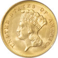 Three Dollar Gold Pieces, 1878 $3 MS64 PCGS....