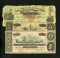 Confederate Notes:1864 Issues, T67 $20 1864 Two Examples Very Good or Better.. ... (Total: 3 notes)