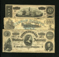 Confederate Notes:1864 Issues, T65 $100 1864 Fine. T67 $20 1864 VF.. ... (Total: 3 notes)