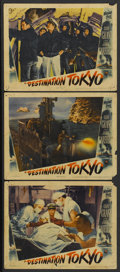 "Movie Posters:War, Destination Tokyo (Warner Brothers, 1943). Lobby Cards (3) (11"" X14""). War.... (Total: 3 Items)"