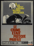 "Movie Posters:Hitchcock, Dial M For Murder (Warner Brothers, R-1962). French Grande (45"" X62""). Hitchcock...."