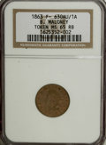Civil War Merchants, 1863 B. Maloney MS65 Red and Brown NGC. Fuld-NY630AU-1a....