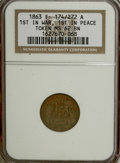 Civil War Patriotics, 1863 First in War, First in Peace MS62 Brown NGC. Fuld-174/272a....