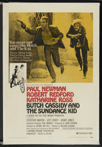 "Butch Cassidy and the Sundance Kid (20th Century Fox, 1969). One Sheet (27"" X 41"") Style B. Western"