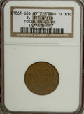 Civil War Merchants, 1861 S. Steinfeld MS63 Brown NGC. Fuld-NY630BU-3a. Incorrectlyattributed as Fuld-NY630BU-1a by NGC....