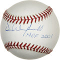 "Autographs:Baseballs, Dave Winfield ""HOF 2001"" Single Signed Baseball. For 22 seasonsDave Winfield imposed his slugger's will on opposing pitchi..."