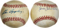 Autographs:Baseballs, Luke Appling and Judy Johnson Single Signed Baseballs Lot of 2. Twoof Cooperstown's elected stars are represented here in ...