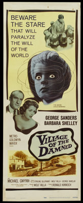 "Village of the Damned (MGM, 1960). Insert (14"" X 36""). Science Fiction"