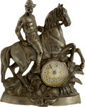 Political:3D & Other Display (1896-present), Theodore Roosevelt: Figural Mantel Clock of T.R. on Horseback....