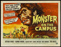 """Movie Posters:Horror, Monster on the Campus (Universal International, 1958). Half Sheet (22"""" X 28""""). Horror...."""
