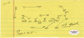 Football Collectibles:Others, 1958 Vince Lombardi Hand-Drawn Football Play. Vince Lombardi entered the profession of pro football coach in 1954, scriptin...