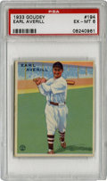 Baseball Cards:Singles (1930-1939), 1933 Goudey Earl Averill #194 PSA EX-MT 6. In his day Earl Averill was a long ball threat for his Cleveland Indians, compil...