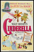 "Movie Posters:Animated, Cinderella (Buena Vista, R-1973). One Sheet (27"" X 41"").Animated...."