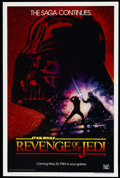 "Movie Posters:Science Fiction, Revenge of the Jedi (20th Century Fox, 1982). One Sheet (27"" X 41"")Advance. Science Fiction...."