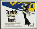 """Movie Posters:Comedy, Travels with My Aunt (MGM, 1972). Half Sheet (22"""" X 28""""). Comedy...."""