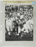 Football Collectibles:Photos, 1971 Johnny Unitas Oversize Service Photograph. From Super Bowl V played in January of 1971, we offer this exceptional acti...