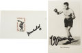 Boxing Collectibles:Autographs, Great Collection of Boxing Signatures Lot of 25. Fabulouscollection amassed here brings us 25 fine signatures from menwho...