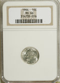 Roosevelt Dimes: , 1964 10C MS66 NGC. NGC Census: (549/149). PCGS Population (460/47).Mintage: 929,299,968. Numismedia Wsl. Price for NGC/PCG...