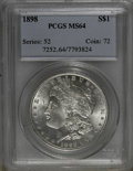 (2)1898 $1 MS64 PCGS and an 1898 MS64 NGC