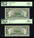 Error Notes:Inking Errors, Fr. 1955-D $5 1934 Federal Reserve Notes. Three consecutiveExamples. PCGS Gem New 65PPQ & 66PPQ (2).. ... (Total: 3 notes)