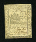 Colonial Notes:Delaware, Delaware May 1, 1777 5s Extremely Fine....