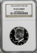 Proof Kennedy Half Dollars: , 1964 50C Accented Hair PR64 Cameo NGC. NGC Census: (23/594). PCGSPopulation (47/393). Numismedia Wsl. Price for NGC/PCGS ...