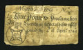 Colonial Notes:North Carolina, North Carolina April 4, 1748 L3 Good....