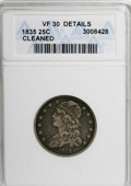 Bust Quarters: , 1835 25C --Cleaned--ANACS. VF30 Details. NGC Census: (9/296). PCGS Population (28/249). Mintage: 1,952,000. Numismedia Wsl. ...