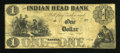 Obsoletes By State:New Hampshire, Nashua, NH- Indian Head Bank $1 April 1, 1860. ...