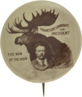 Political:Pinback Buttons (1896-present), Theodore Roosevelt: Classic 1912 Bull Moose Pinback....